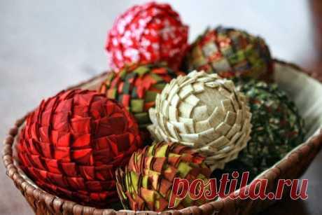 Интересный елочный шар-шишка — DIYIdeas