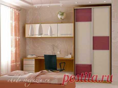 Шкаф купе с рабочим столом для школьника: фото, к окну, вид