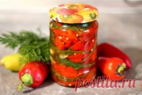 Перец, запеченный в духовке, на зиму: рецепт с фото
