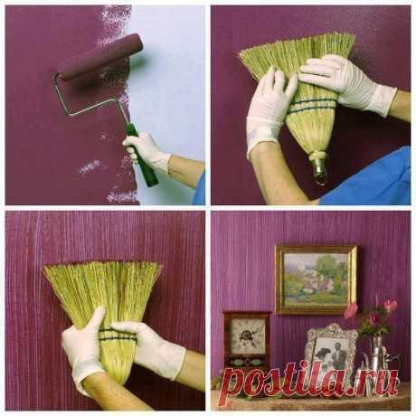 Интересные идеи при покраске стен / Необычные поделки
