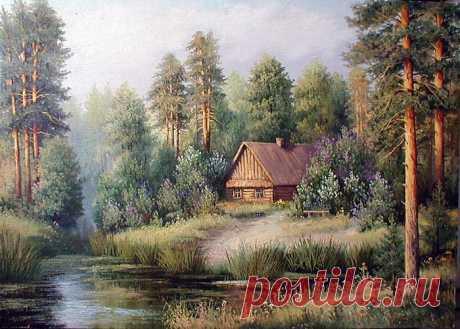 Схема вышивки «домик в лесу» - Вышивка крестом