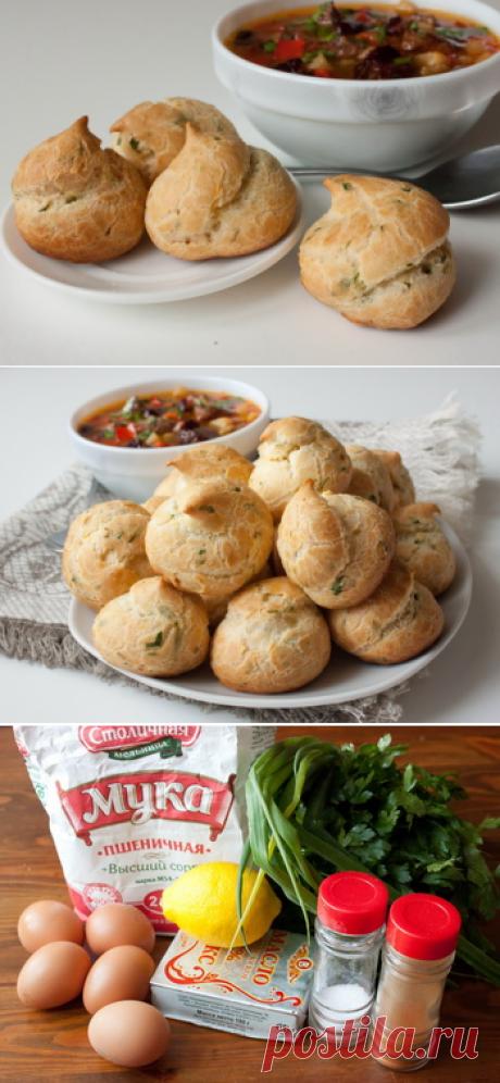 Пошаговый фото-рецепт заварных булочек с зеленью