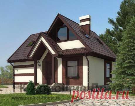 Проект двухэтажного каркасного дома с 4 спальнями, с эркером, с панорамными окнами и общей площадью 87.6 кв.м. — AS-178