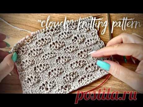 Необыкновенный узор спицами «Облака» для джемпера ☁️☁️☁️ Rare knitting pattern