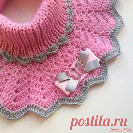 Манишка для девочки (Вязание спицами) – Журнал Вдохновение Рукодельницы