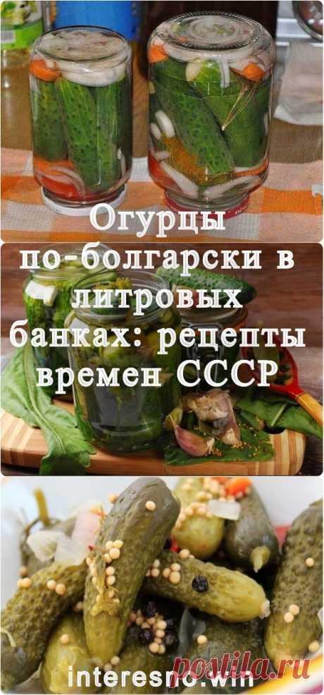 Огурцы по-болгарски в литровых банках: рецепты времен СССР - Женский уголок