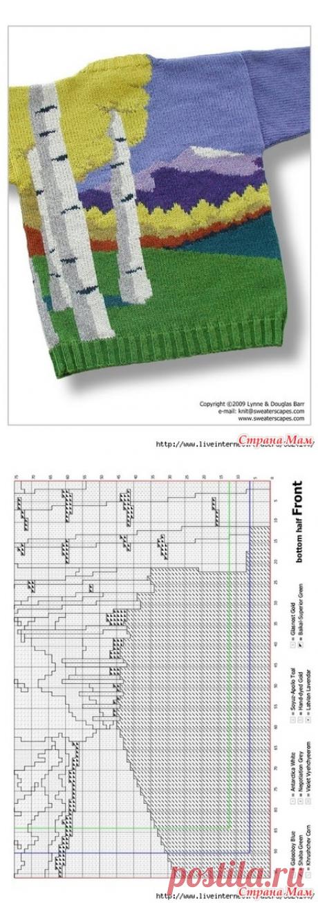 ЖИВОПИСНОЕ вязание в технике интарсия (со схемами) - Вязание спицами - Страна Мам