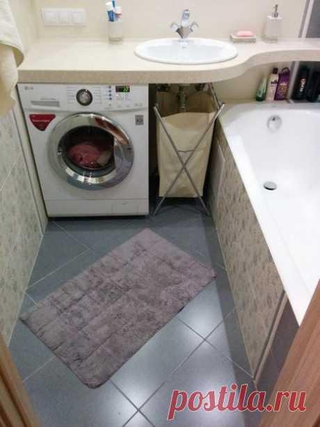 Небольшая ванная (3,2 кв. м)