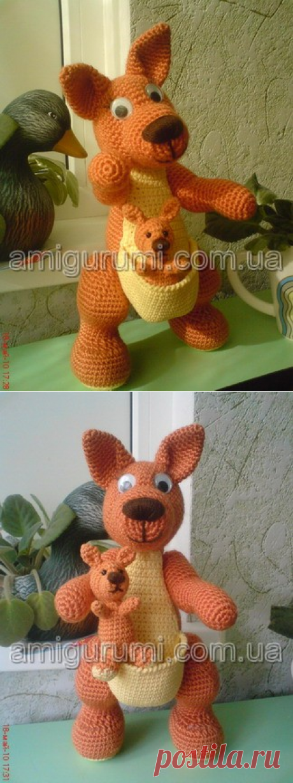 Кенгуру с кенгуренком — Вязаные игрушки. Амигуруми всех стран, соединяйтесь