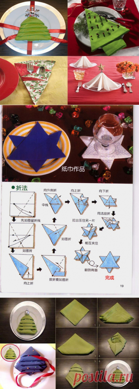 Оформление салфеток для новогоднего стола