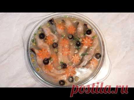 Новогодние рецепты Заливная рыба КАРП рецепт заливное из рыбы холодное из карпа рецепт