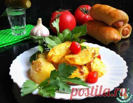Запечённый картофель с творожным сыром – кулинарный рецепт