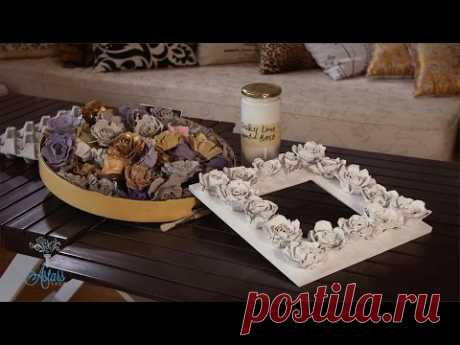 Розы из яичных лотков (видео) / Мое творчество - бумага и картон