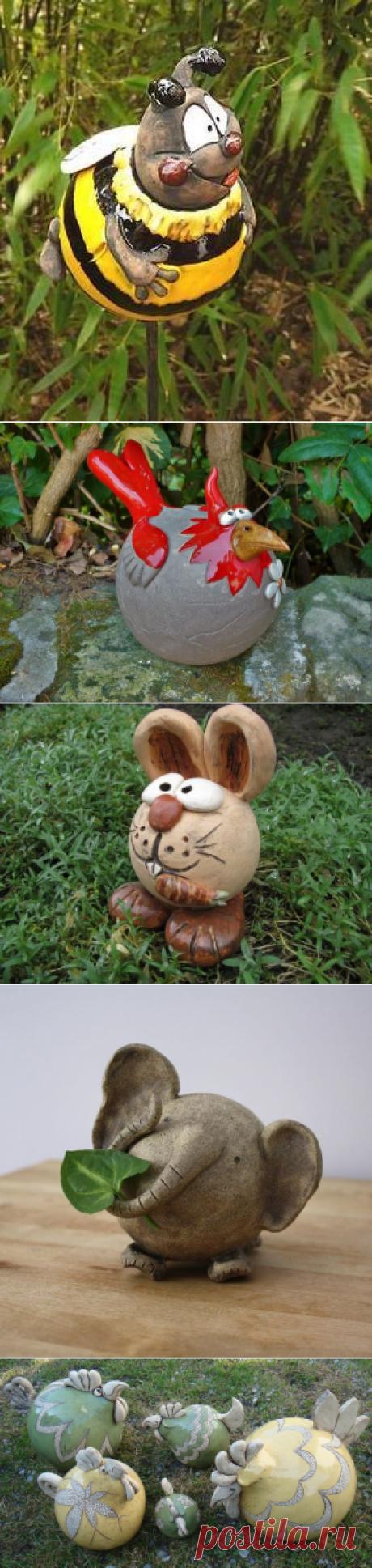 Дачная скульптура на основе шара