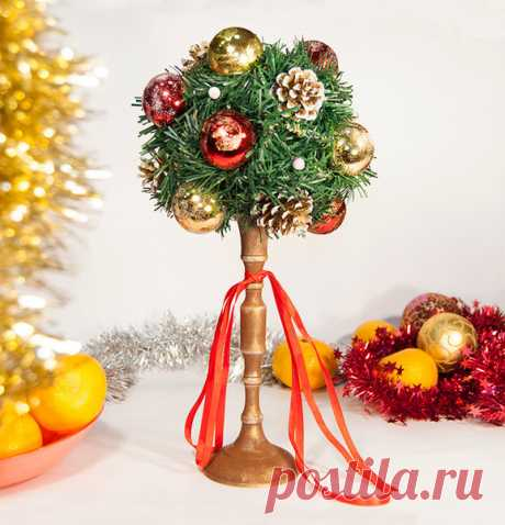 🎄Новогодний топиарий или хвойное дерево счастья. Новогодний мастер-класс.❄️ | Творческая студия TAIR | Яндекс Дзен