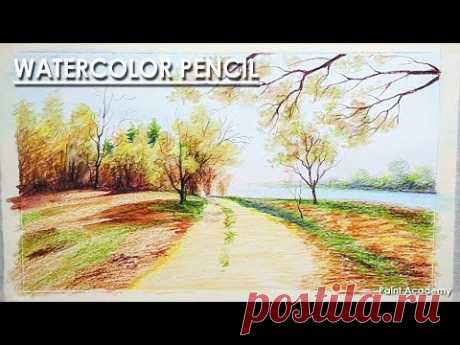 How to Draw with Watercolor Pencil   step by step