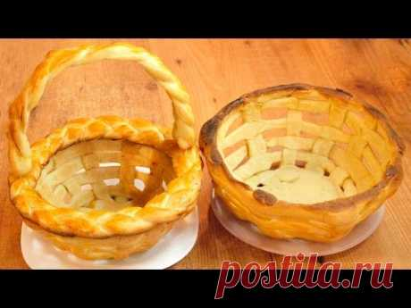 Плетёная пасхальная корзинка из теста / Yeast dough Easter basket recipe ♡ English subtitles - YouTube
