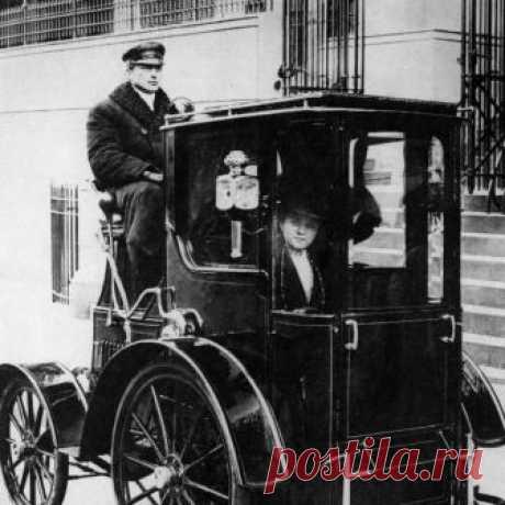 Пассажирка такси. Нью-Йорк. США. 1910 г.