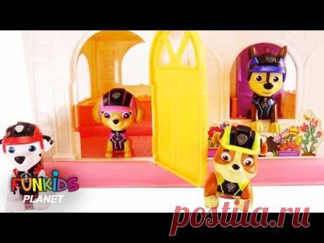 Learning Colors Videos for Kids: Paw Patrol Move into New LOL Surprise Doll House