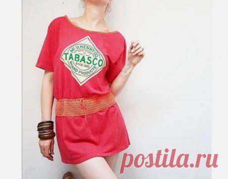 Платье - туника из футболки (diy)