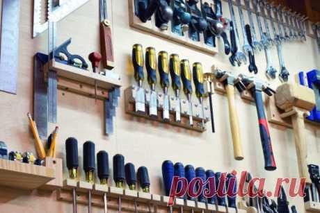 Организация хранения инструмента на стене гаража: инструкция как сделать   Obustroeno.Com
