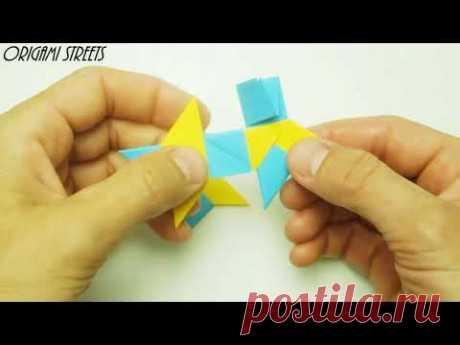 Как сделать сюрикен из бумаги.Оригами.