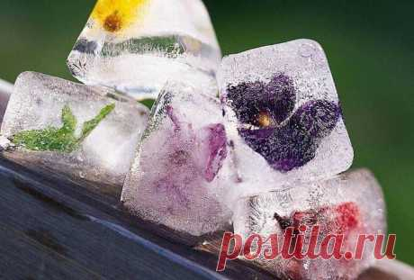 Красота в кубиках льда.