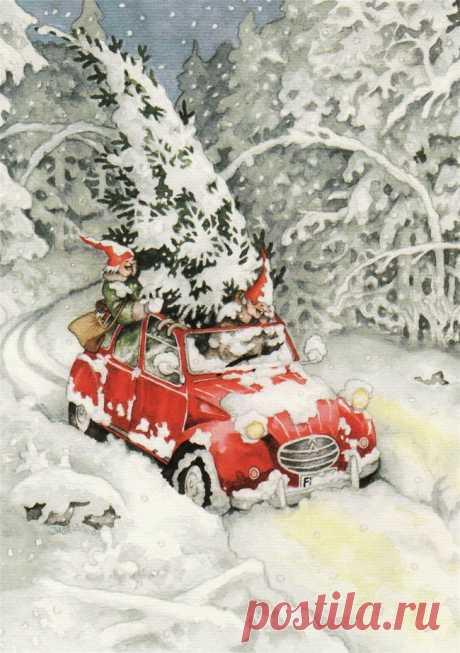 Como celebrar la fiesta de Año Nuevo en la vejez \/ la pintora Inge finlandesa de las Regaderas (Inge Look)