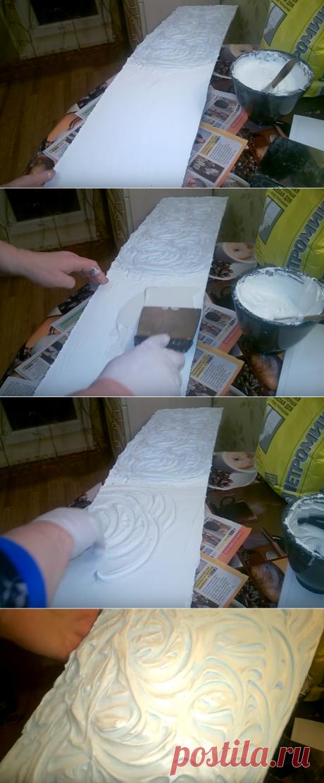 Как можно быстро просто дешево сделать декор из шпаклевки, на любой поверхности (стена, потолок, арка и т. д.)? | Все о ремонте квартир | Яндекс Дзен