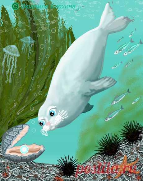Белый тюлень всем шлёт привет