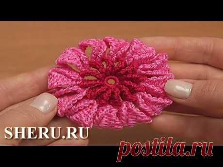 крючок цветы видео уроки валентина смирнова простые схемы