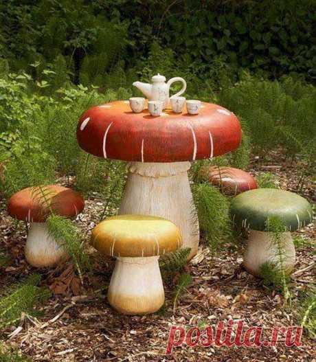 Дачные идеи с грибами — Сделай сам, идеи для творчества - DIY Ideas