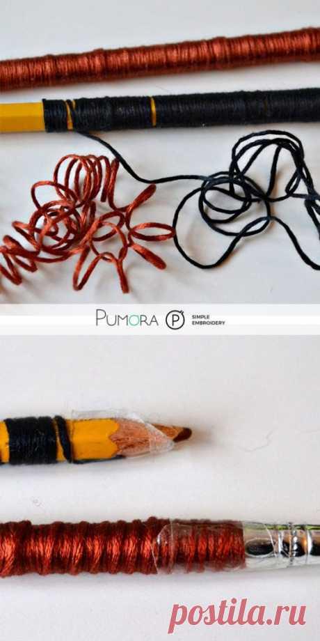 Как вышивать вьющиеся волосы-создайте свой вышитый портрет-Pumora