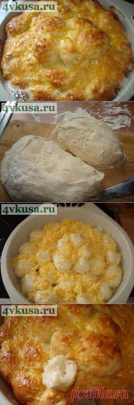 """""""Обезьяний"""" хлеб с сыром и чесноком   4vkusa.ru"""