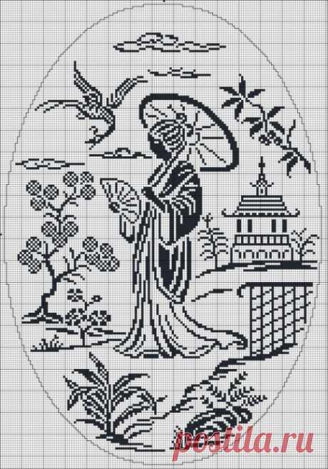 Схемы для монохромной вышивки крестом