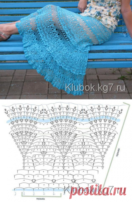 Красивая юбка от Евгении Гришиной (Кутузовой) | Клубок