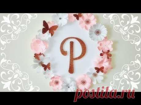 DECORACION CON FLORES DE PAPEL | FLORES DE PAPEL | MOLDES GRATIS | PAPER FLOWERS DECORATION