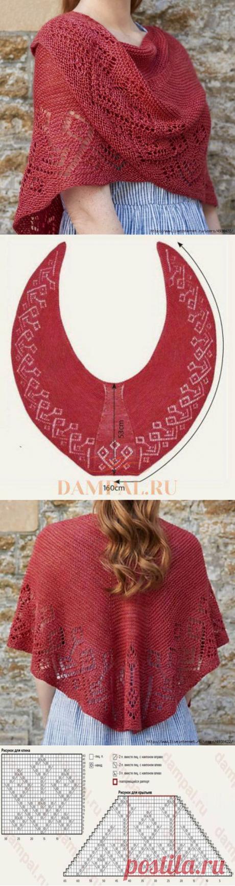 """Шаль """"Hvalba"""", связанная по старинным фарерским традициям (Вязание спицами) – Журнал Вдохновение Рукодельницы"""