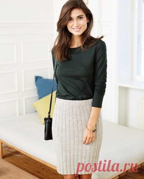 Классическая юбка-карандаш из категории Интересные идеи – Вязаные идеи, идеи для вязания