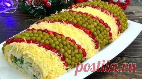 Изумительно красивый и вкусный салат на новогодние праздники «Король стола»