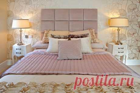Варианты дизайна изголовья кровати.
