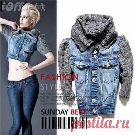 Интересная идея джинсовой куртки. / Джинсы / Модный сайт о стильной переделке одежды и интерьера