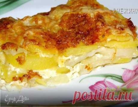 Картофель «Дофине». Ингредиенты: картофель, мускатный орех , сыр твердый