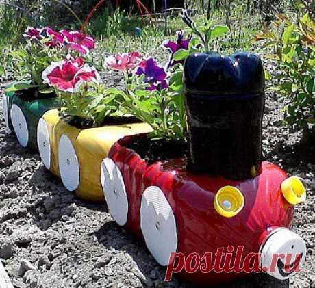 Поделки из канистр своими руками для сада и огорода, фото, пошагово