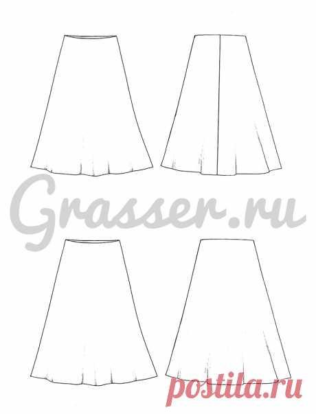 Шелковая юбка, бесплатная выкройка №669
