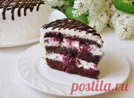 Шоколадно вишневый торт рецепт с фото пошагово - 1000.menu