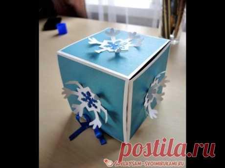 Новогодние подарочные коробки своими руками