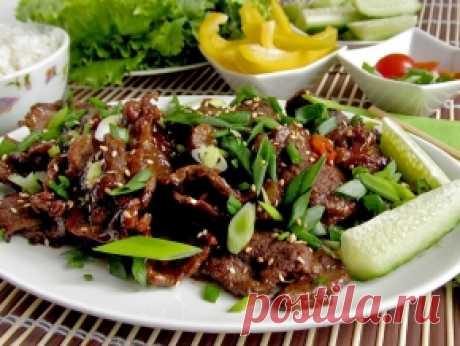 Говядина по-корейски — рецепт с фото