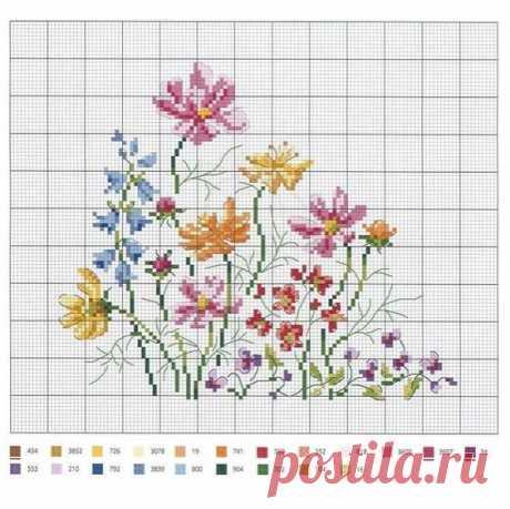 Вышиваем полевые цветочки