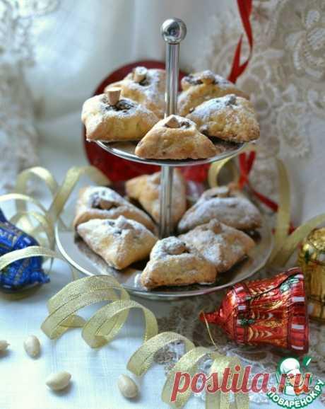 """Печенье """"Новогоднее"""" с ореховой начинкой - кулинарный рецепт"""